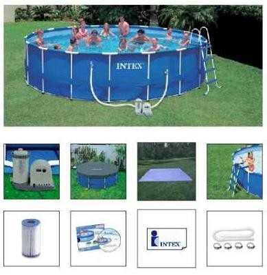Comprar piscina intex 24311 litros bomba filtro 110v capa for Filtro piscina intex