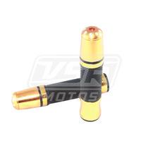 Manopla Esportiva C/ Peso Dourada Biz Cg 125 150 Bros Gsr Nx