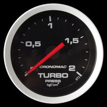 Pressão Turbo 2 Kg Cronomac Sport 52mm Manômetro Turbina