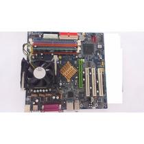 Kit Placa Mãe Gigabyte Com Processador 2400 Mhz E Memória