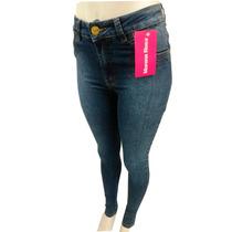 Calça Jeans Feminina Morena Rosa Detalhe Na Lateral Ziper