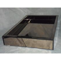 Bandeja Espelho Bronze 25cmx 60cmx 5cm