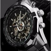 Relógio Skeleton Winner Automático Importado Pronta Entrega