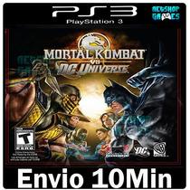 Mortal Kombat Vs Dc Universe Psn Ps3 Playstation3