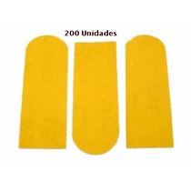 Lixa Para Pé 200 Unidades+2 Cabo- Refil Lixa Adesiva Amarela