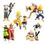 10 Bonecos Dragonball Z X One Piece Goku Sanji Buu Figures