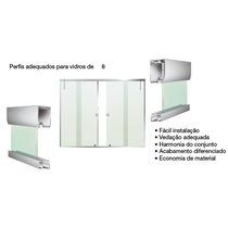 Janela Blindex Kit M² 4 Folhas Vidro 8mm Verde - Completo