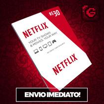 Cartão Pré-pago Netflix R$ 30 Reais Presente Assinatura