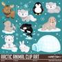 Kit Imagens Digitais Animal Do Ártico Scrapbook + Brinde