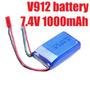 Bateria 1000mah 7.4v 20c Wltoys V912 / V262 /wl V353