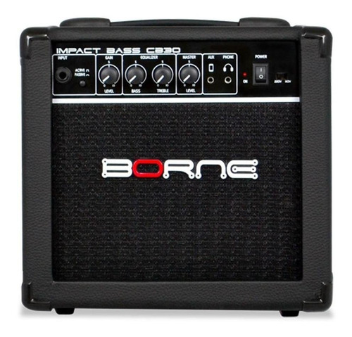 Amplificador Borne Impact Bass Cb30 15w Preto 110v/220v