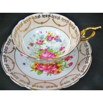 Linda E Antiga Xícara Chá Inglesa Paragon Rosas !!