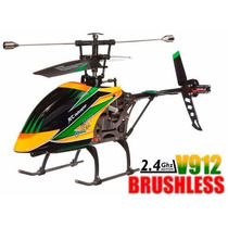 Helicóptero V912 C/ Motor Brushless Rtf (completo)