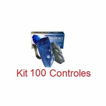 Kit 100 Controle Remoto 4 Teclas Linear Portão Fsseletronica