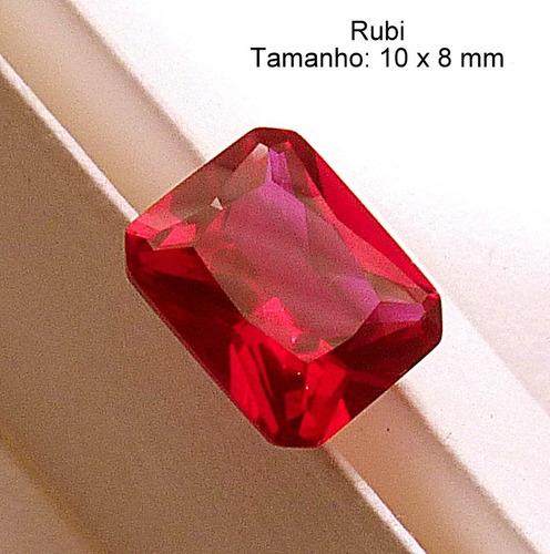 fdbd438c0c8 Rubi Pedra Preciosa Preço 1 Gema 10x8 Mm Retângulo 3165