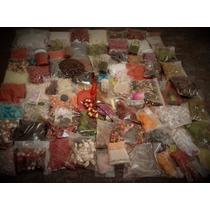 Lote Kit Com 900g Bijouterias Canutilhos Miçangas Sementes