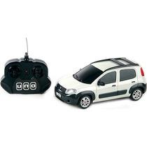 Fiat Novo Uno Controle Remoto 1:18 Branco Cks