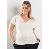 Roupa Plus Size ( Tamanhos Grande ) Blusa Branca
