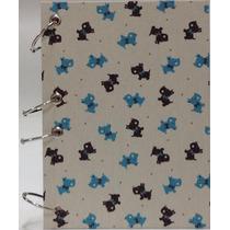 Caderno Pequeno Argolado Fichário Cachorrinhos 170x230 192f