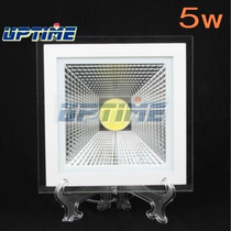 Spot Led Cob 5w Quadrado Branco Frio Completa Vidro 85v-265v