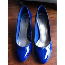 Scarpin Verniz Zara Azul 38