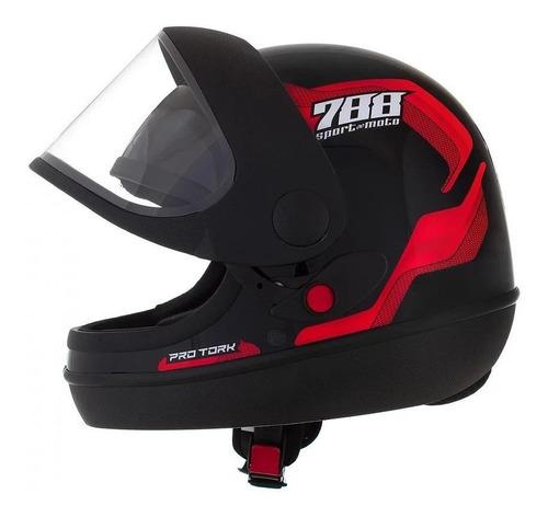 Capacete Para Moto Integral Pro Tork Sport Moto 788 Vermelho Tamanho 60