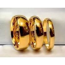 1 Aliança Cor De Ouro 8 Mm, Feita De Moeda Antiga