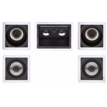 Kit 5.0 Caixa Acústica De Embutir Gesso Loud + 100 Mts Cabo