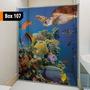 Adesivo Para Box De Banheiro 3d Janelas E Portas De Vidro