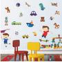 Adesivo De Parede - Menino Brinquedos 529b - Decoração