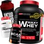 Kit Whey Protein 2kg + Bcaa + Creatina + Shaker Original