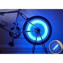 Kit 4 Bicos Neon Led Roda Pneu Bike Moto Carro Luz Xenon