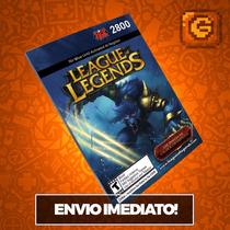 League Of Legends Lol - Cartão 2800 Riot Points Rp Br Brasil
