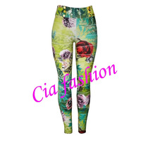 Calça Bandage Estampa / Estampada Floral Outlet Cia Fashion