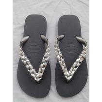 Sandalia Chinelos Havaianas Bordado Com Strass