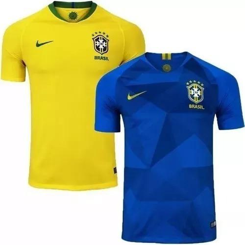 87e3e5ba28 Kit 02 Camisas Seleção Brasileira Copa Rússia 2018 Oferta - R  120 ...