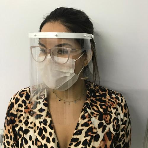 Máscara Transparente Viseira Protetor Facial Face Shield Top