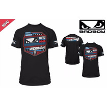 Camiseta Bad Boy Oficial Chris Weidman Preta Ufc 175