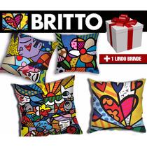 Kit Almofadas Decorativas Romero Britto 4pçs