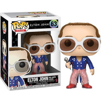 Funko Pop! Rocks - Elton John #63 (red, White & Blue)