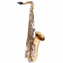 Saxofone Tenor Michael Duplo Dourado E Niquelado Wtsm 49