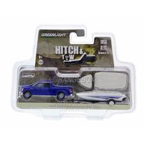 Ford F150 Lariat+carreta C/ Barco Greenlight 1:64 Gre-32060d
