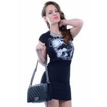 Vestido Feminino Com Estampa Do Elvis - Kam Bess - Ve0838