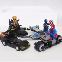 Lego Marvel Avengers Spiderman Capitão América Batman Homem