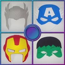 Mascaras - Tema Vingadores - Kit Com 12 Unidades