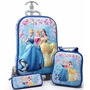 3d Mala Mochila Lancheira Estojo Princesas Disney Fretegráti