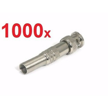 Kit 1000 Conectores Bnc Macho De Mola Com Parafuso 4mm Cftv