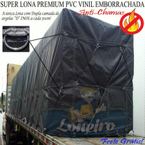Lona Premium Caminhão Lonil Pvc Argola Emborrachada 16,5x5,5
