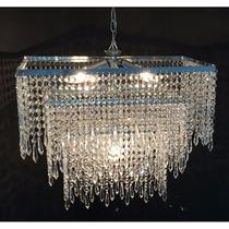 Lustre Sala Jantar/visita Cristal Acrílico 50x72cm - Bivolt