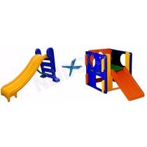 Escorregador Infantil 3 Degraus + Escorregador Play Junior